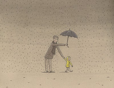Escena de 'Días de padre', de Philip Waechter (Lóguez Ediciones)