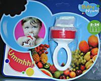 baby nyam redecilla para frutas y mordedor