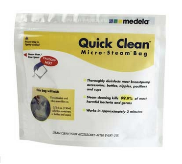 Bolsas Medela reutilizables para mocroondas