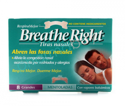 Tiras adhesivas de Breathe Right